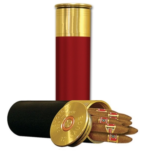 Shotgun Shell Cigar Travel Humidor